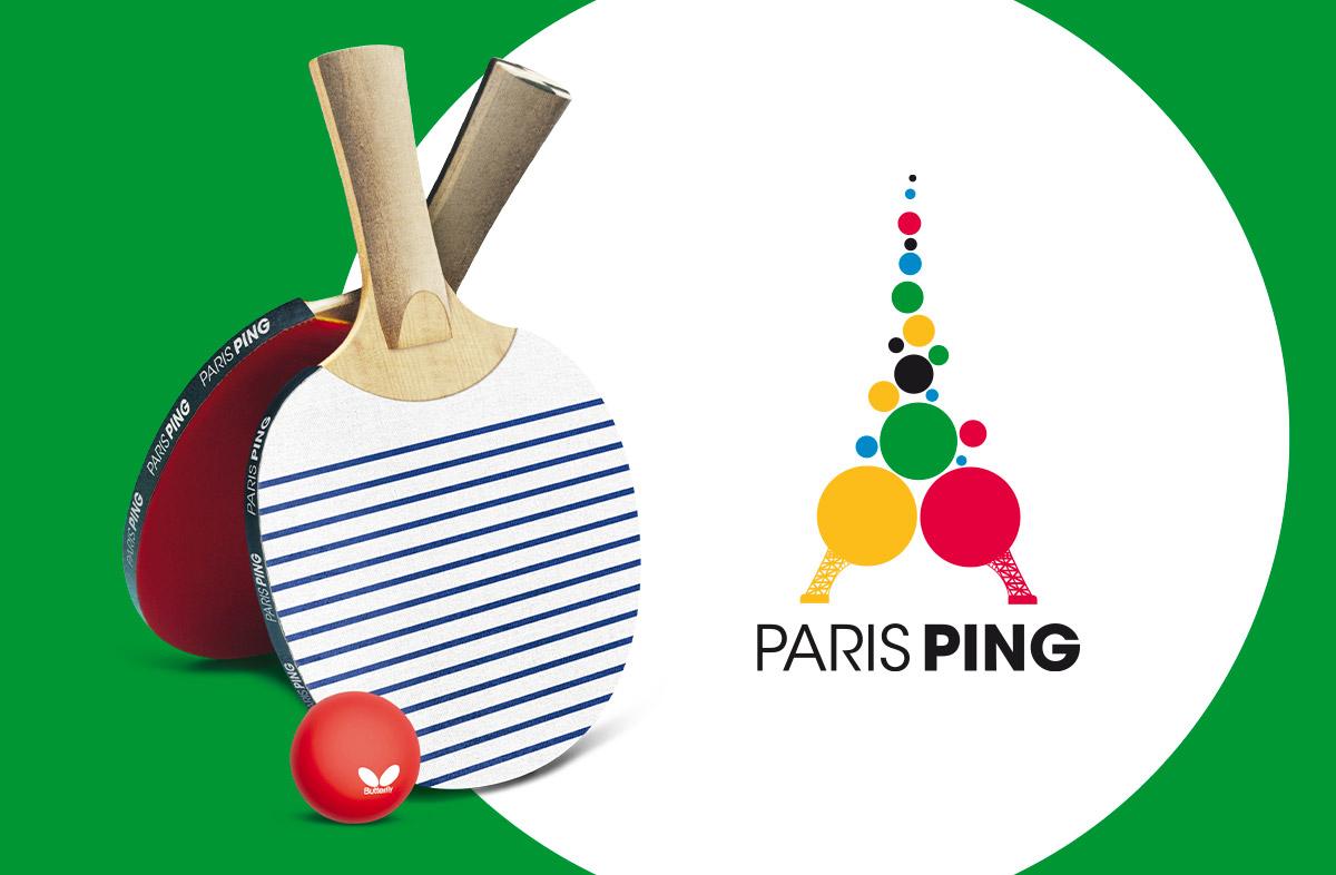 Publicité du mondial de ping pong à Paris