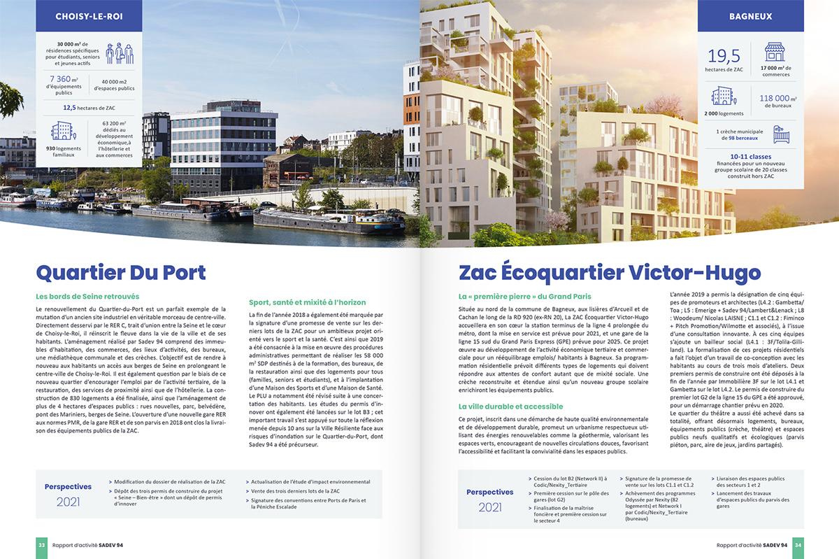 benjamin lecoq - graphiste paris - communication financière - print rapport annuel - sadev94 - page projet 2