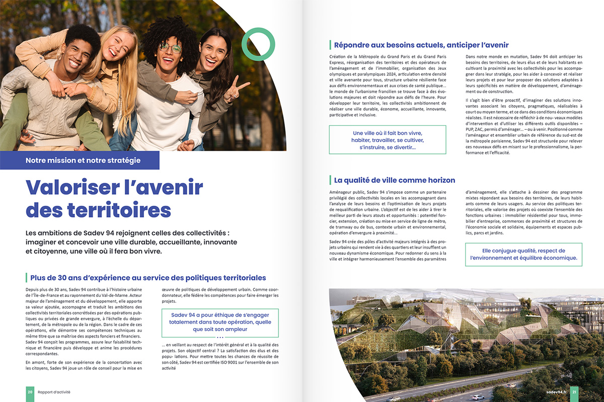 benjamin lecoq - graphiste paris - communication financière - print rapport annuel - sadev94 - nos missions