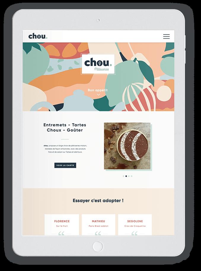 benjamin lecoq-graphiste-paris-site internet, motion design, publicité, logo, identité visuelle-chou salon de thé patisserie site wix