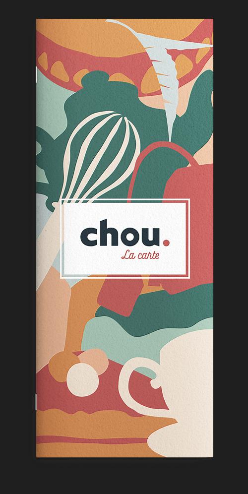 benjamin lecoq-graphiste-paris-site internet, motion design, publicité, logo, identité visuelle-chou salon de thé patisserie carte menu