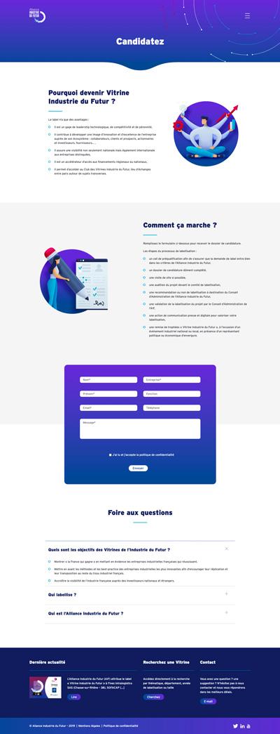benjamin lecoq - graphiste paris - logo, identité graphique, branding, site web, motion, publicité - alliance industrie du futur - site des vitrines page candidatez