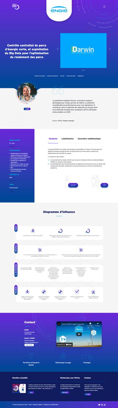 benjamin lecoq - graphiste paris - logo, identité graphique, branding, site web, motion, publicité - alliance industrie du futur - site des vitrines - page client engie