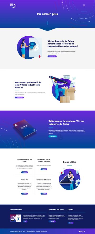benjamin lecoq - graphiste paris - logo, identité graphique, branding, site web, motion, publicité - alliance industrie du futur - site des vitrines page en savoir +