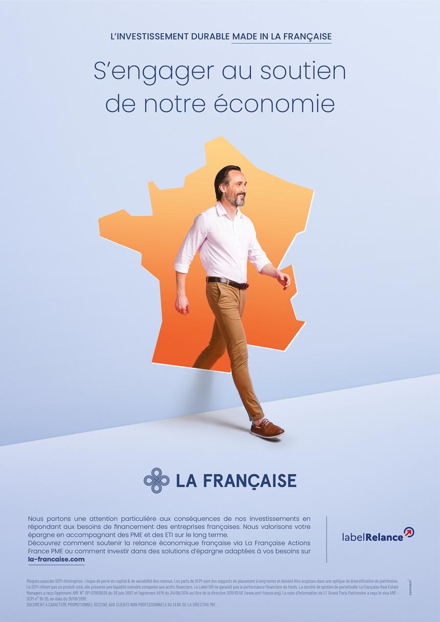 benjamin lecoq-graphiste - directeur artistique - paris -publicité site motion logo identité - groupe la française - campagne investissement durable - annonce économie française