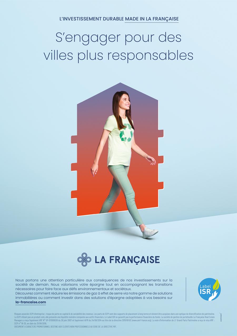 benjamin lecoq-graphiste - directeur artistique - paris -publicité site motion logo identité - groupe la française - campagne investissement durable - annonce ville responsable
