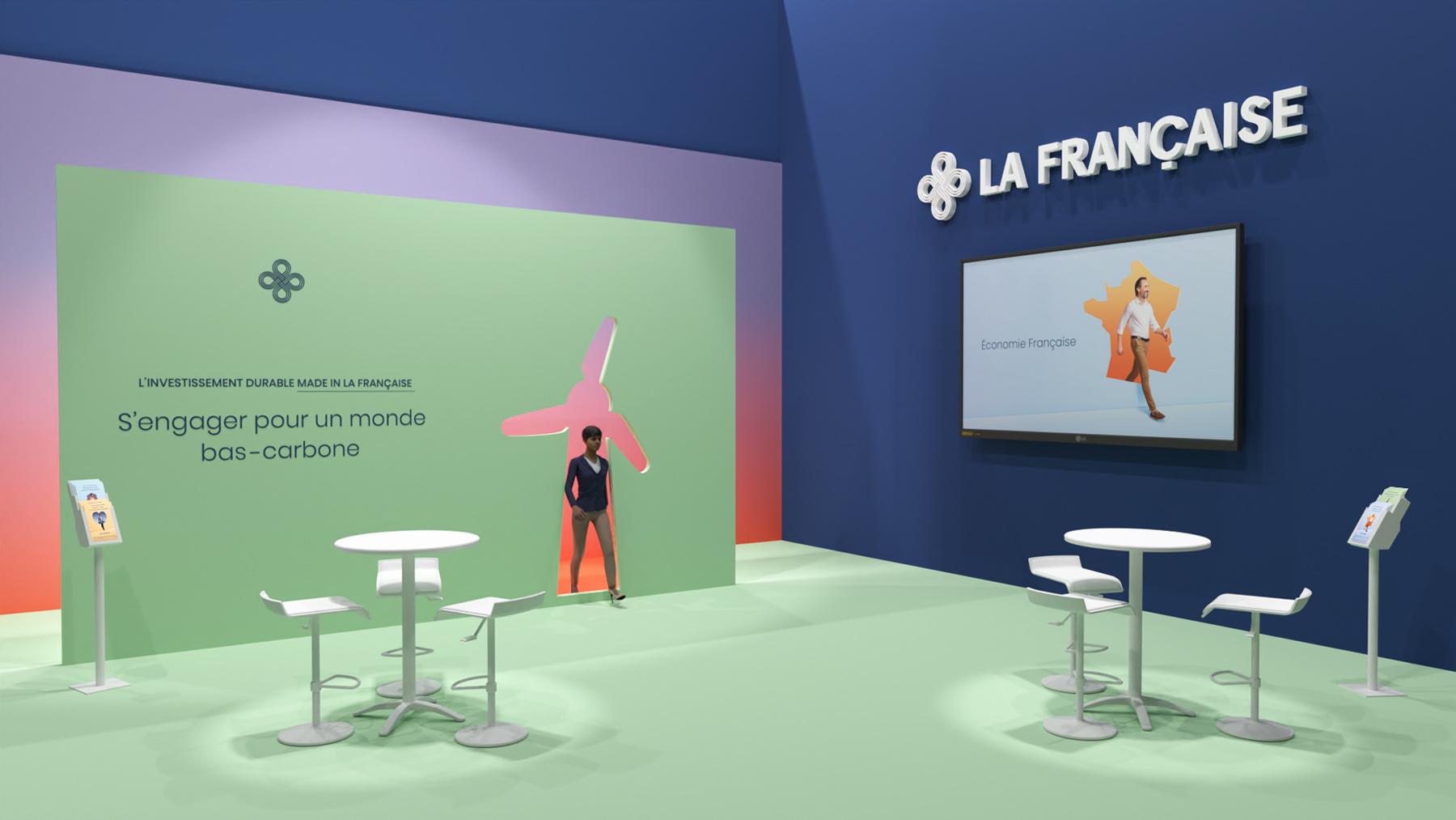 benjamin lecoq-graphiste - directeur artistique - paris -publicité site motion logo identité - groupe la française - campagne investissement durable - habillage stand