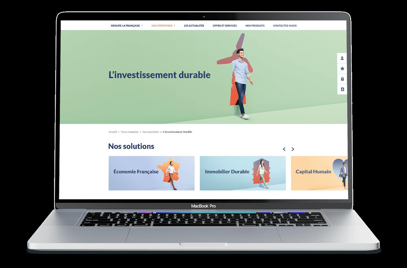 benjamin lecoq-graphiste - directeur artistique - paris -publicité site motion logo identité - groupe la française - campagne investissement durable - site produit