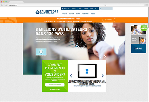 benjamin lecoq-graphiste-identite visuel logo site internet ux motion-refont identite start-up talentsoft - ancien site internet