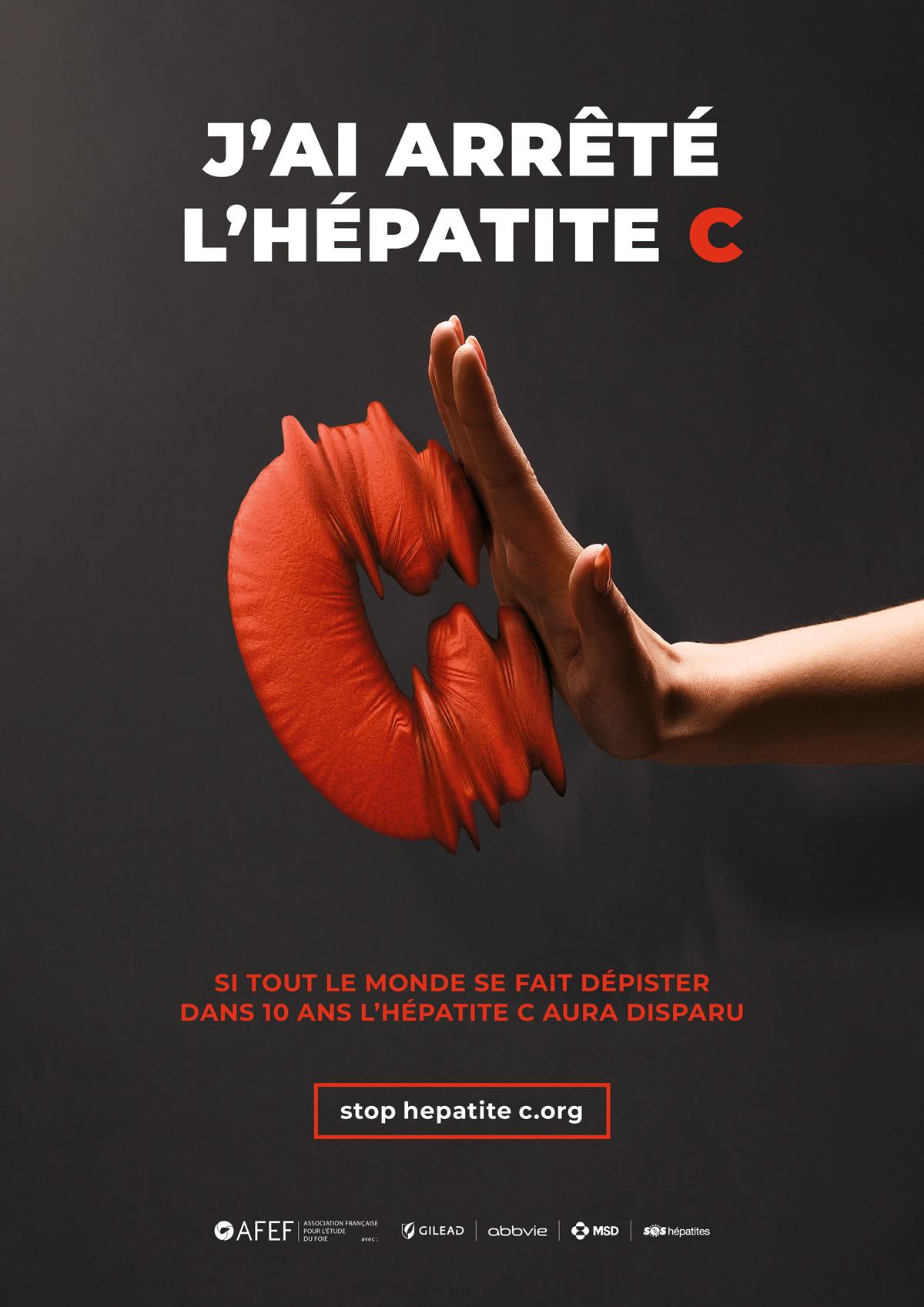 benjamin lecoq - graphiste paris - communication médicale - publicité, site internet, motion - campagne nationale sensibilisation incitation dépistage hépatiteC - association AFEF - affiche
