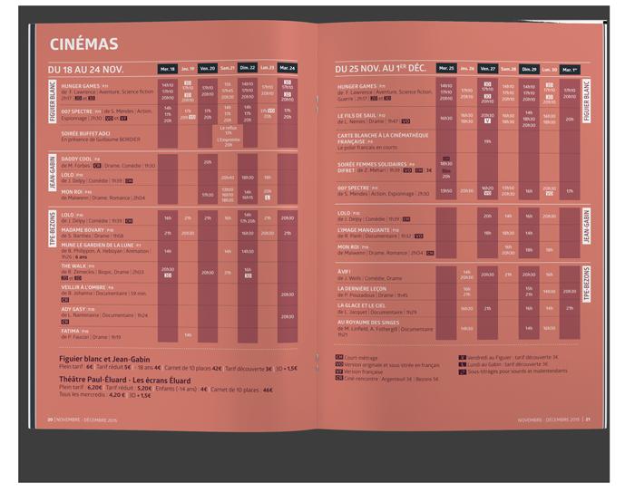 benjamin lecoq - graphiste paris - site identité graphique print - communication publique - LAB mag - magazine mensuel agglomération argenteuil bezons programme cinéma