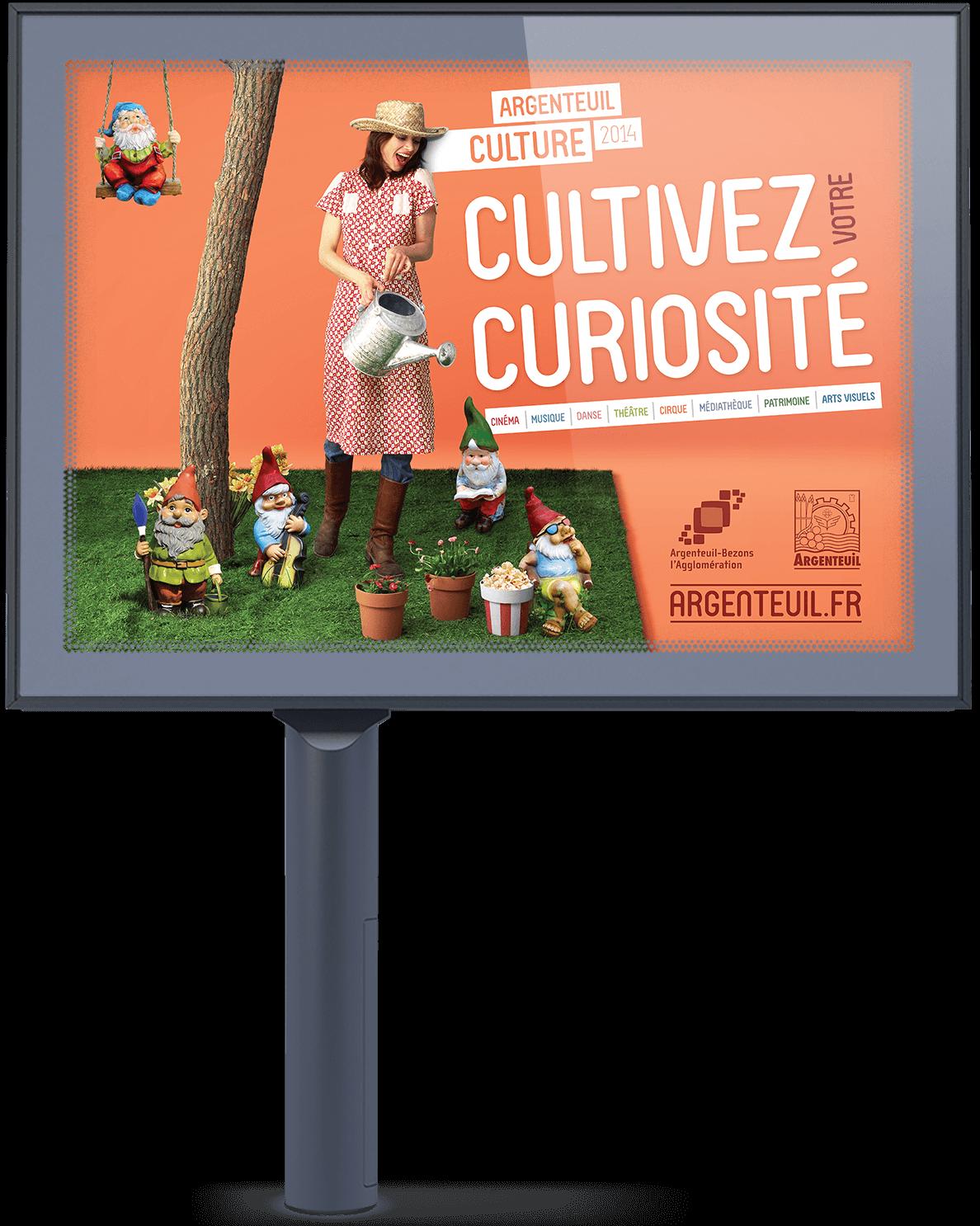 benjamin lecoq - graphiste paris - logo, identité graphique, site internet, motion design, publicité - campagne culture pour la ville d'Argenteuil-Bezons - 4x3 decaux