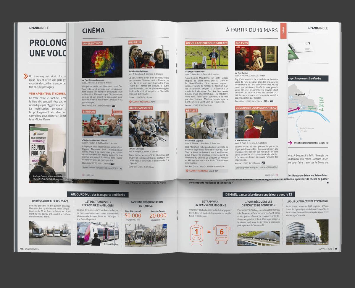 benjamin lecoq - graphiste paris - site logo identité graphique print - communication publique - LAB mag - magazine mensuel agglomération argenteuil bezons supplément culturel