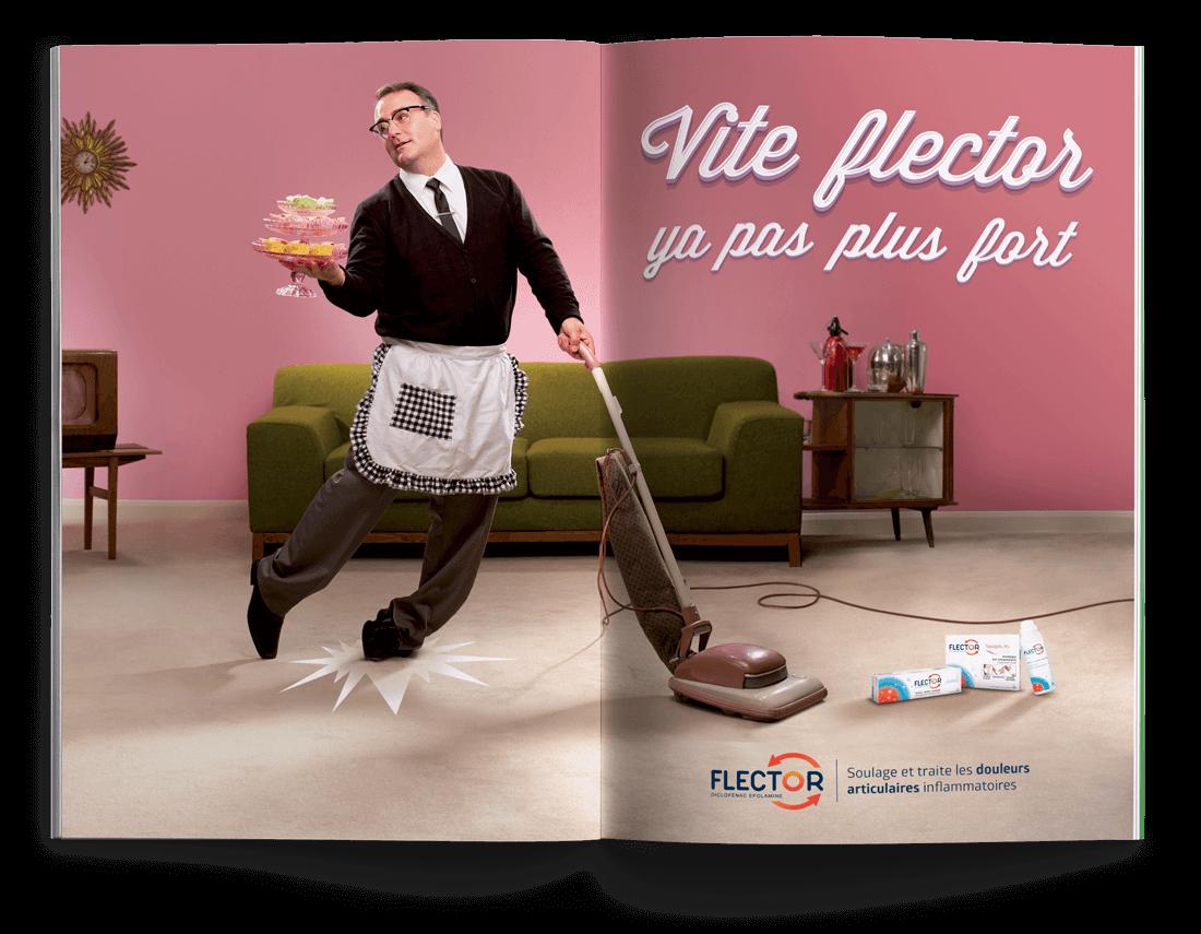 benjamin lecoq graphiste à paris & clichy - publicité pour flector du laboratoire Genevrier