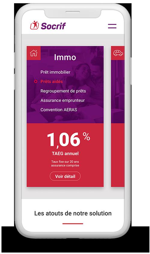 benjamin lecoq graphiste paris logo website mobile socrif banque organisme de prêt de la sncf