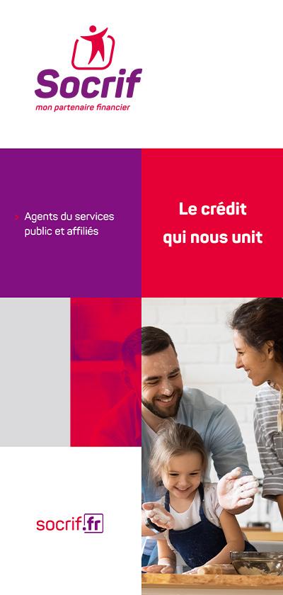benjamin lecoq graphiste paris - logo identité visuelle de socrif organisme de prêt public sncf - leaflet offre