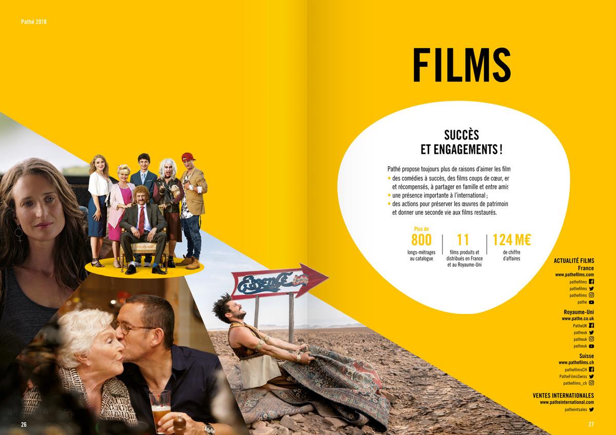 benjamin lecoq graphiste paris et clichy - logo, identité visuelle, print, site web - rapport annuel du groupe pathé des films, tuche