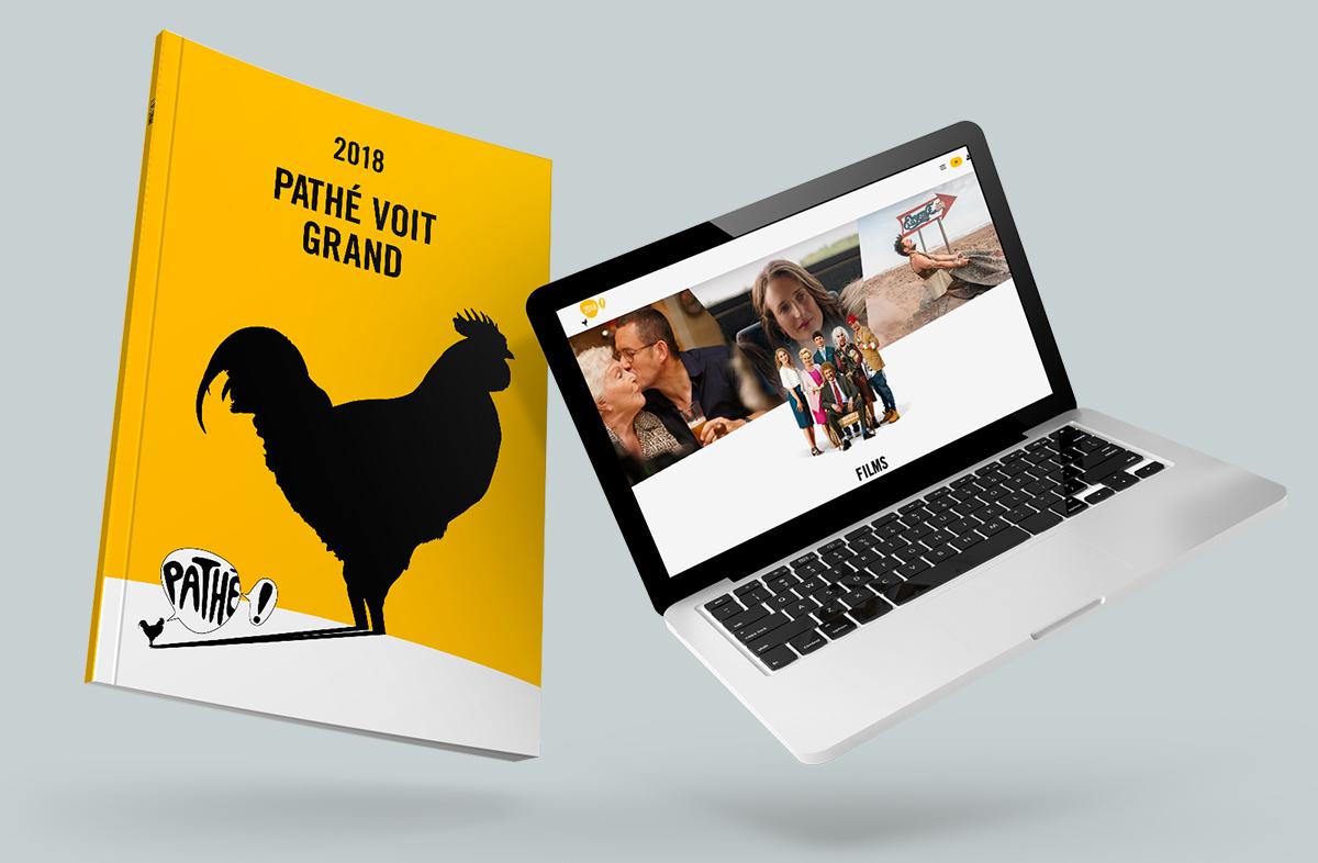 Rapport annuel print et digital du groupe pathé
