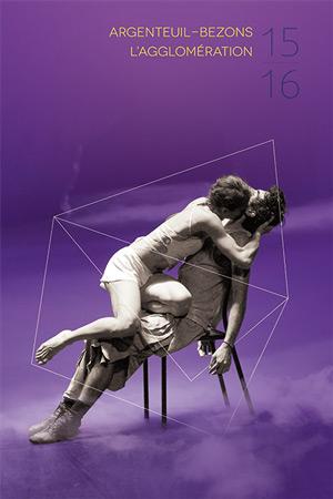 benjamin lecoq graphiste à paris et clichy - affiches de la programmation de la saison culturelle - danse contemporaine