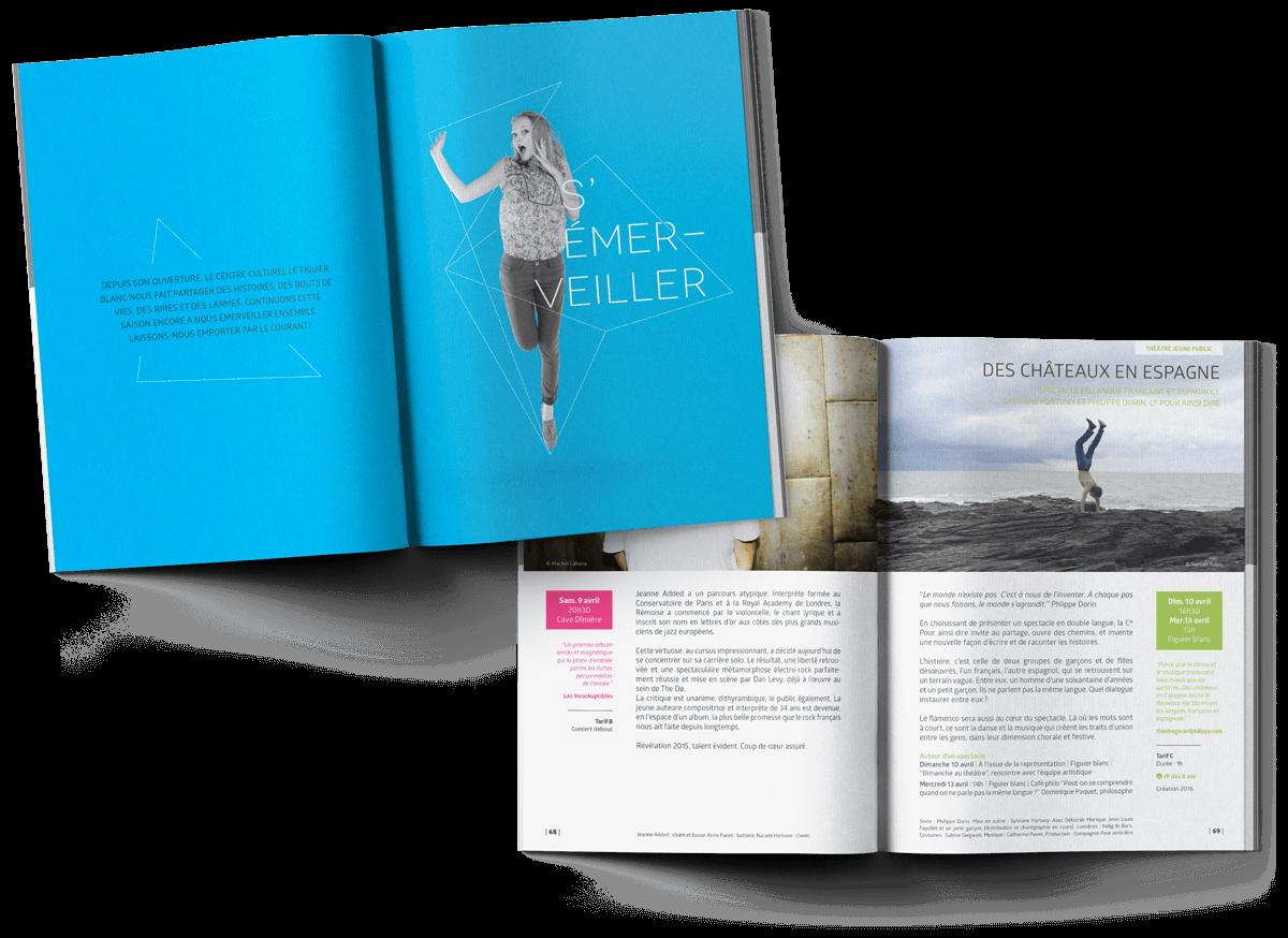 benjamin lecoq graphiste paris et clichy - communication publique - brochure de la saison culturelle de l'agglo d'Argenteuil Bezons
