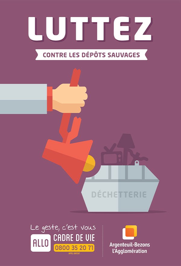 graphiste à paris clichy - communication publique - affiche publicité campagne propreté - déchetterie - benjamin lecoq