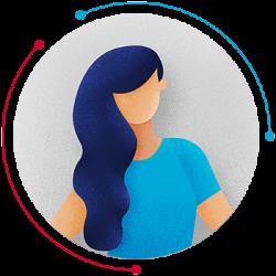 benjamin lecoq graphiste directeur artistique - paris -site internet, logo, identité visuelle, branding, motion design, publicité - alliance industrie du futur-site vitrine label avatar-femme